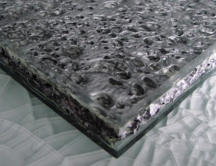 Glass laminated aluminium foam